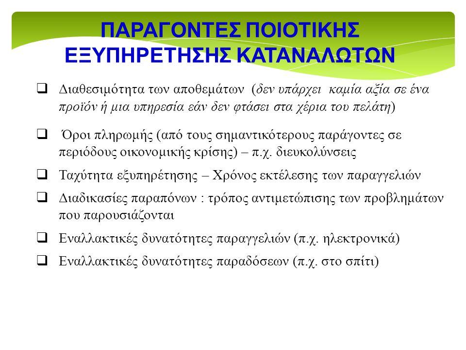 ΕΞΥΠΗΡΕΤΗΣΗΣ ΚΑΤΑΝΑΛΩΤΩΝ
