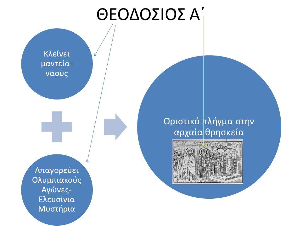 ΘΕΟΔΟΣΙΟΣ Α΄ Οριστικό πλήγμα στην αρχαία θρησκεία