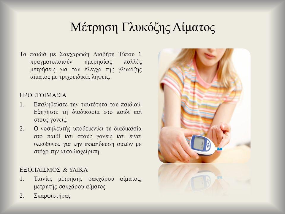 Μέτρηση Γλυκόζης Αίματος