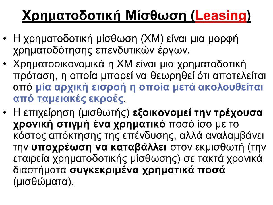 Χρηματοδοτική Μίσθωση (Leasing)