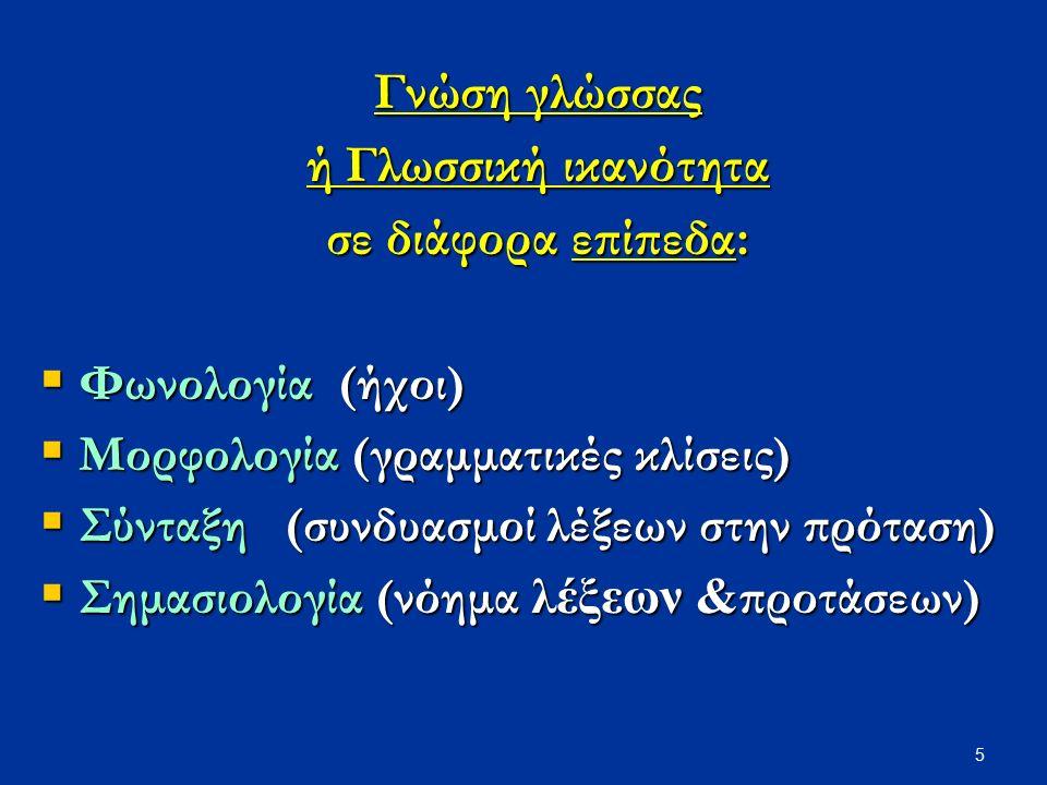 Γνώση γλώσσας ή Γλωσσική ικανότητα