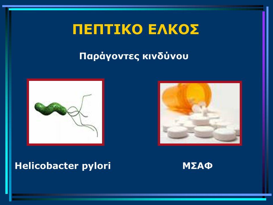 ΠΕΠΤΙΚΟ ΕΛΚΟΣ Παράγοντες κινδύνου Helicobacter pylori ΜΣΑΦ