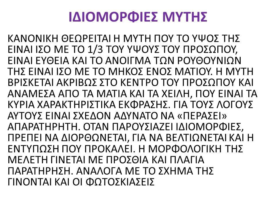 ΙΔΙΟΜΟΡΦΙΕΣ ΜΥΤΗΣ