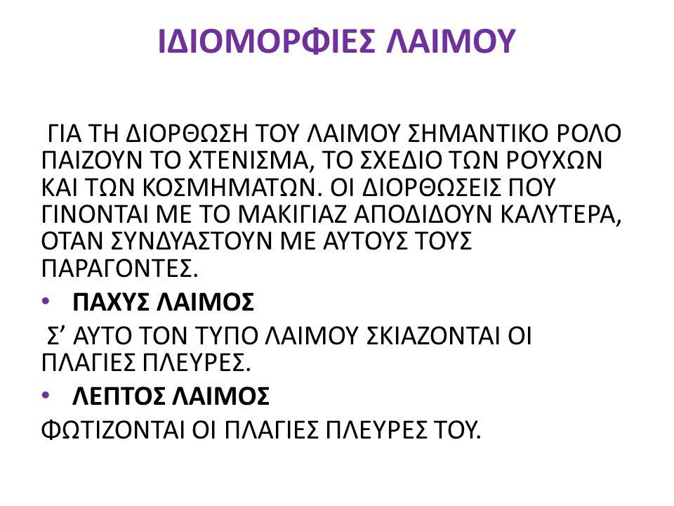 ΙΔΙΟΜΟΡΦΙΕΣ ΛΑΙΜΟΥ