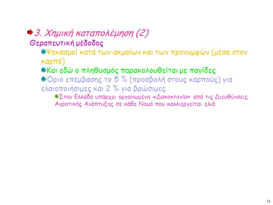 3. Χημική καταπολέμηση (2) Θεραπευτική μέδοδος