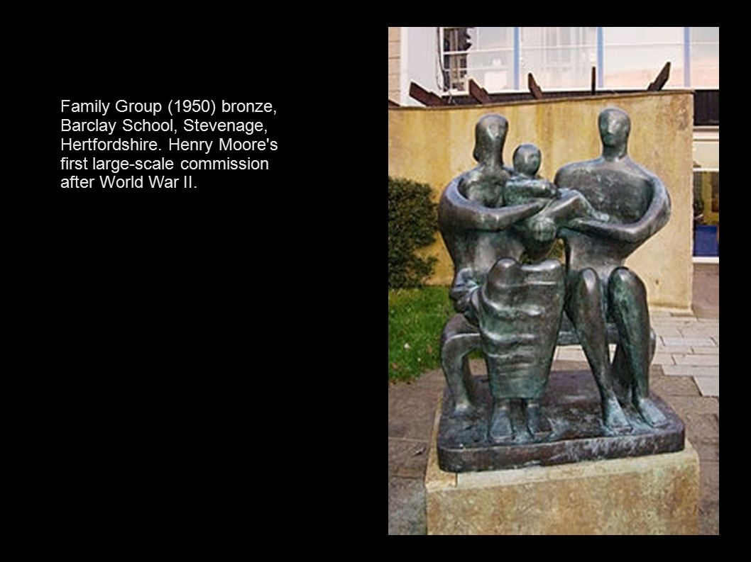 Family Group (1950) bronze, Barclay School, Stevenage, Hertfordshire