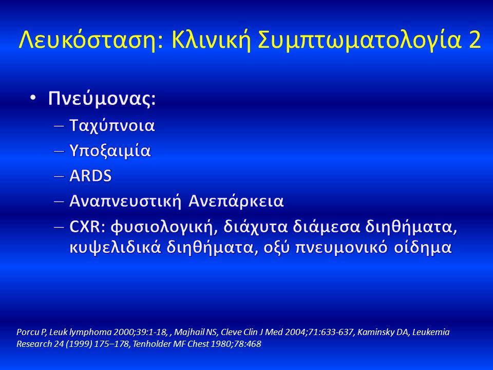 Λευκόσταση: Κλινική Συμπτωματολογία 2