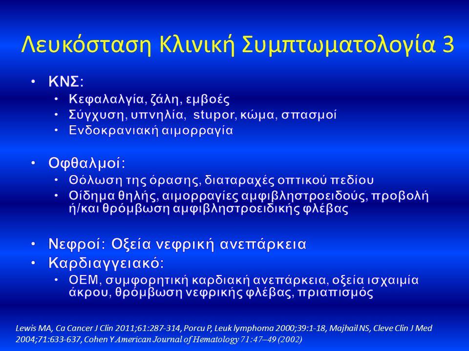 Λευκόσταση Κλινική Συμπτωματολογία 3