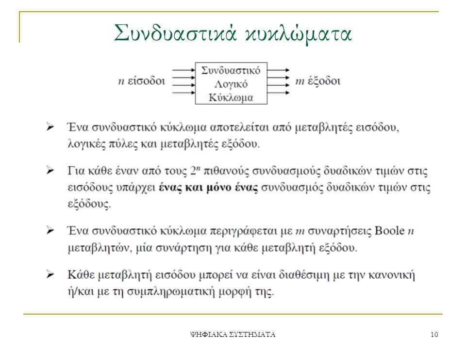 Συνδυαστικά κυκλώματα