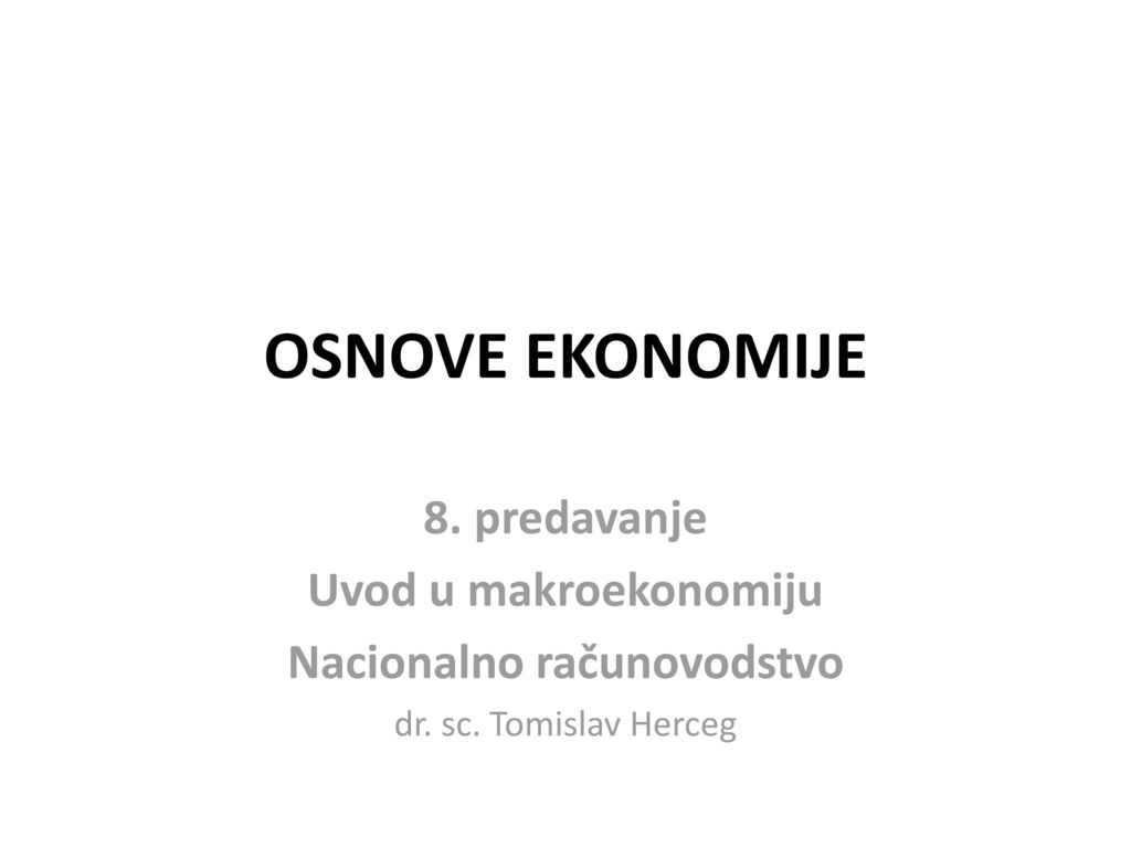 Nacionalno računovodstvo