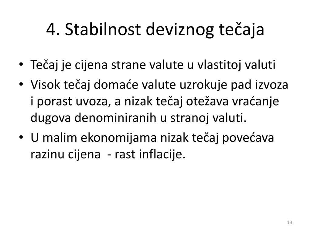 4. Stabilnost deviznog tečaja