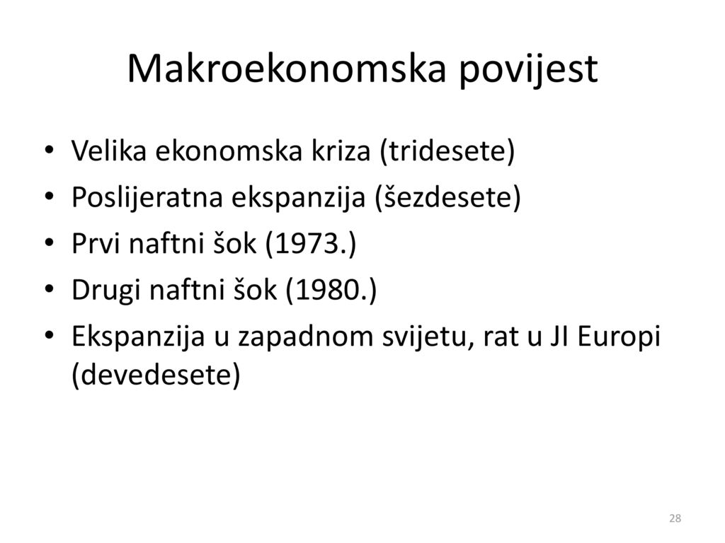 Makroekonomska povijest