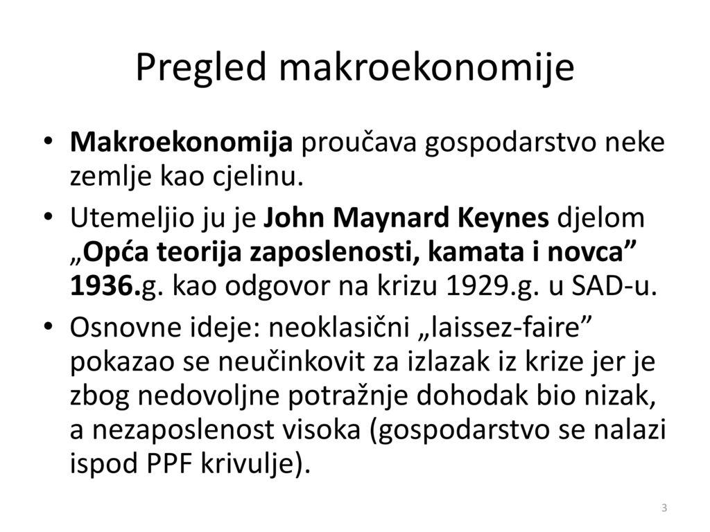 Pregled makroekonomije