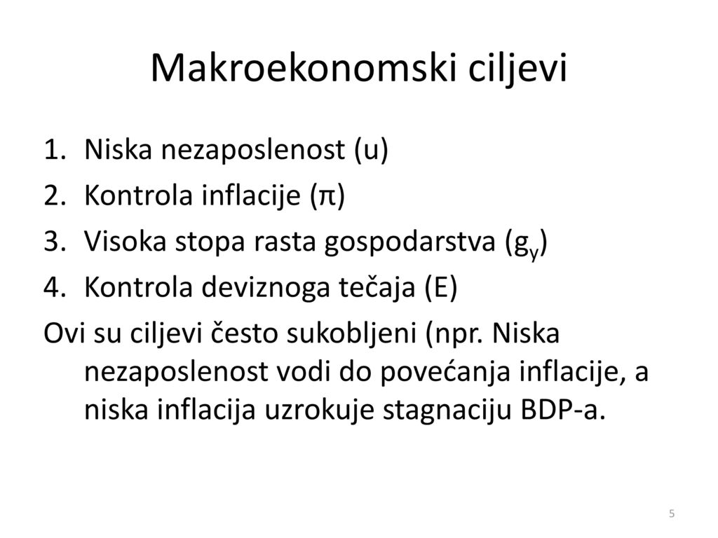Makroekonomski ciljevi