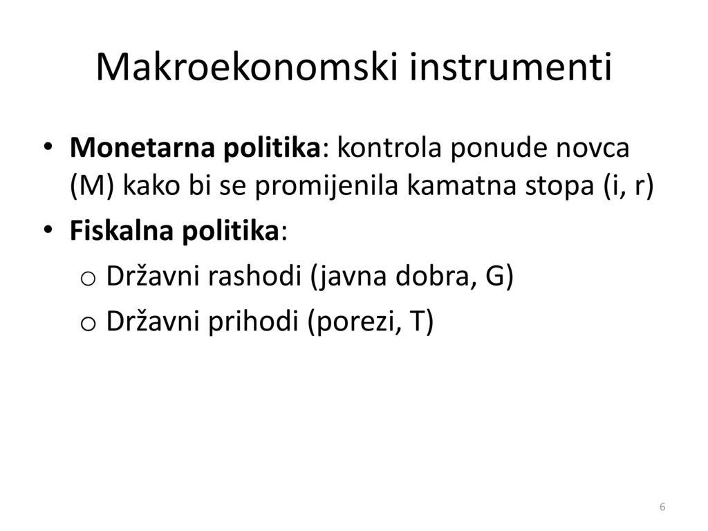 Makroekonomski instrumenti