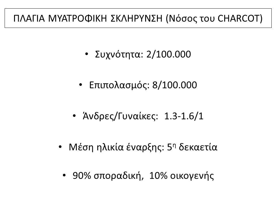 ΠΛΑΓΙΑ ΜΥΑΤΡΟΦΙΚΗ ΣΚΛΗΡΥΝΣΗ (Νόσος του CHARCOT)