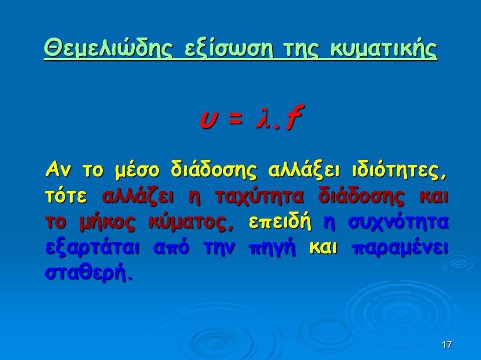 Θεμελιώδης εξίσωση της κυματικής