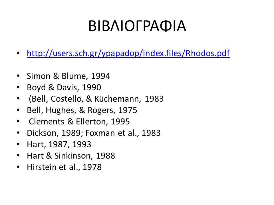 ΒΙΒΛΙΟΓΡΑΦΙΑ http://users.sch.gr/ypapadop/index.files/Rhodos.pdf