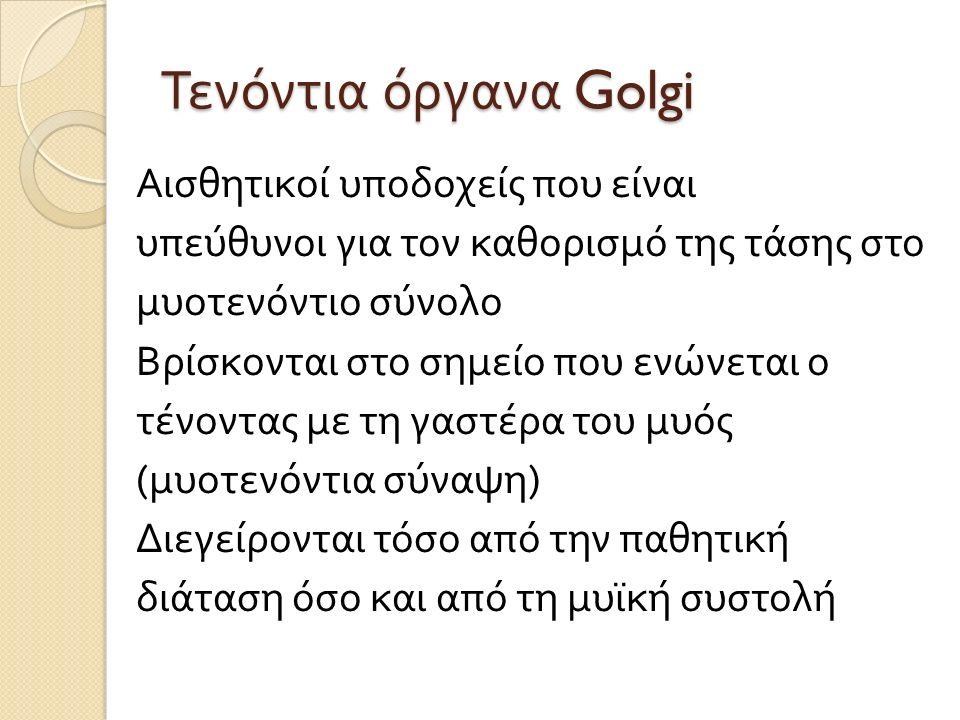 Τενόντια όργανα Golgi