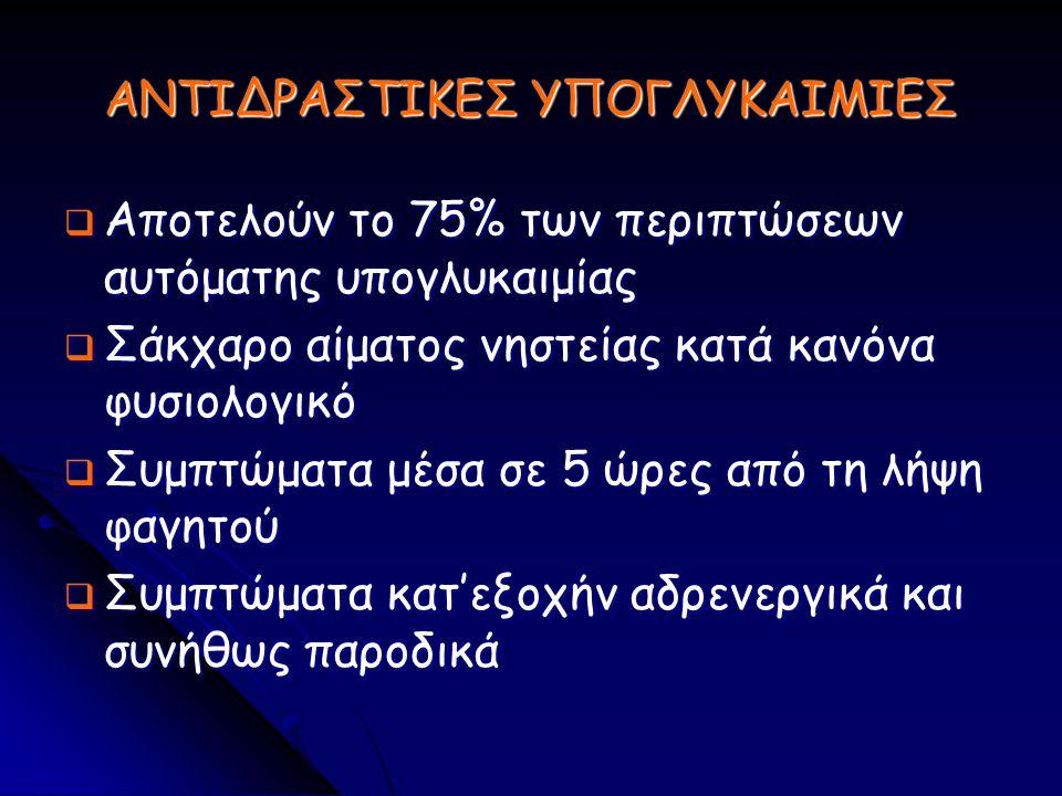 ΑΝΤΙΔΡΑΣΤΙΚΕΣ ΥΠΟΓΛΥΚΑΙΜΙΕΣ