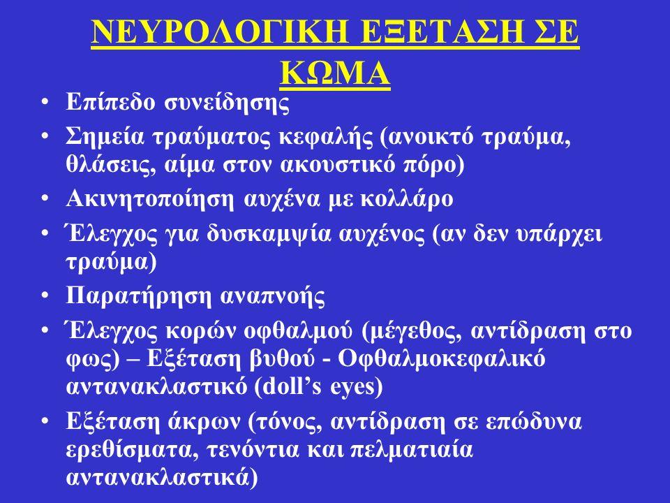 ΝΕΥΡΟΛΟΓΙΚΗ ΕΞΕΤΑΣΗ ΣΕ ΚΩΜΑ