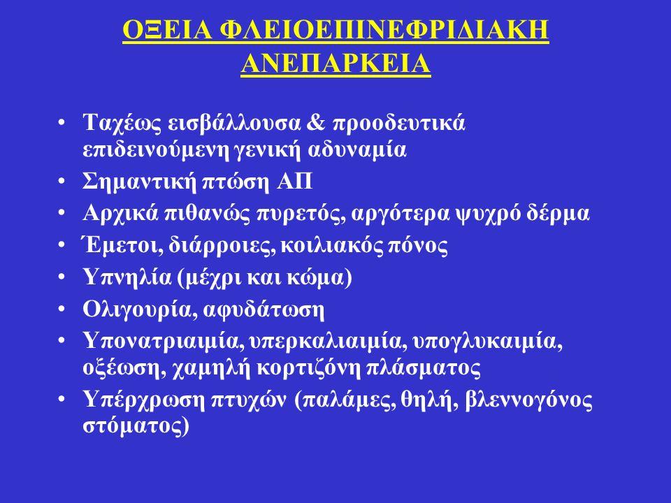 ΟΞΕΙΑ ΦΛΕΙΟΕΠΙΝΕΦΡΙΔΙΑΚΗ ΑΝΕΠΑΡΚΕΙΑ