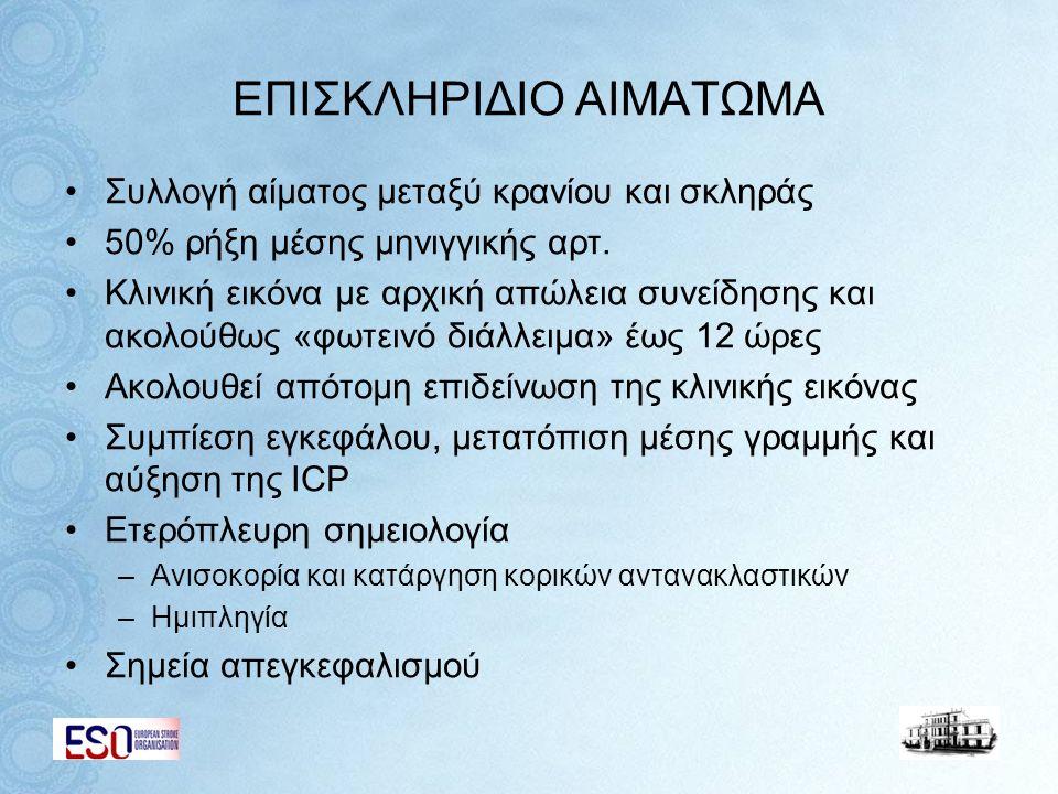 ΕΠΙΣΚΛΗΡΙΔΙΟ ΑΙΜΑΤΩΜΑ