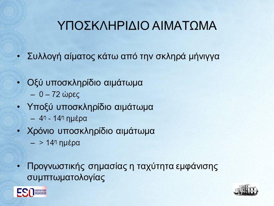 ΥΠΟΣΚΛΗΡΙΔΙΟ ΑΙΜΑΤΩΜΑ
