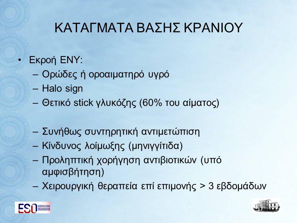 KΑΤΑΓΜΑΤΑ ΒΑΣΗΣ ΚΡΑΝΙΟΥ