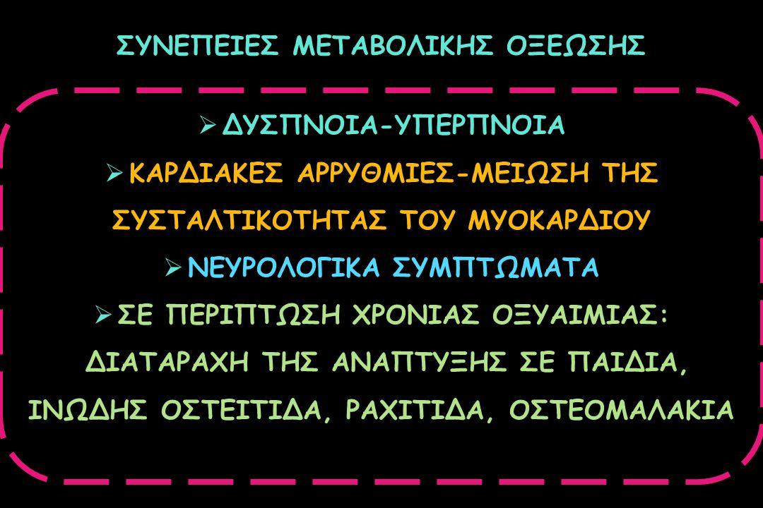 ΣΥΝΕΠΕΙΕΣ ΜΕΤΑΒΟΛΙΚΗΣ ΟΞΕΩΣΗΣ