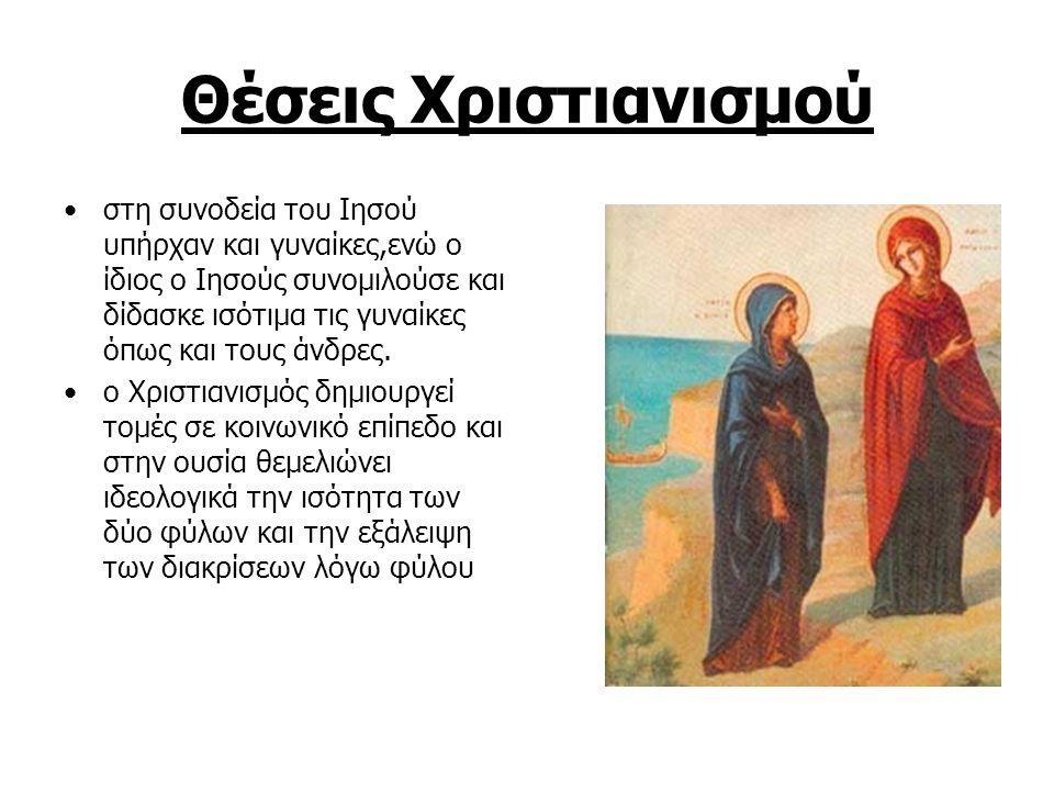 Θέσεις Χριστιανισμού