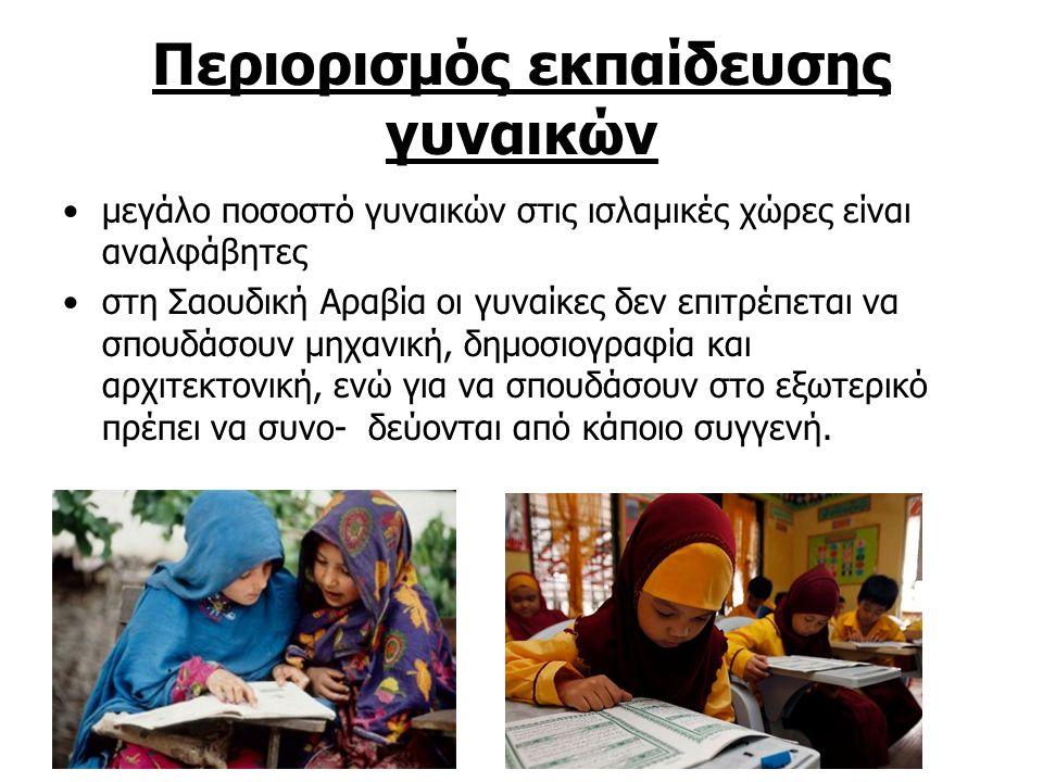 Περιορισμός εκπαίδευσης γυναικών