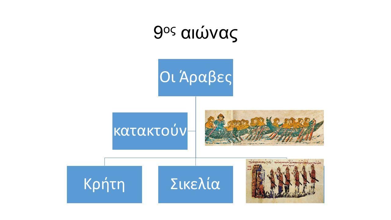 9ος αιώνας Οι Άραβες Κρήτη Σικελία κατακτούν