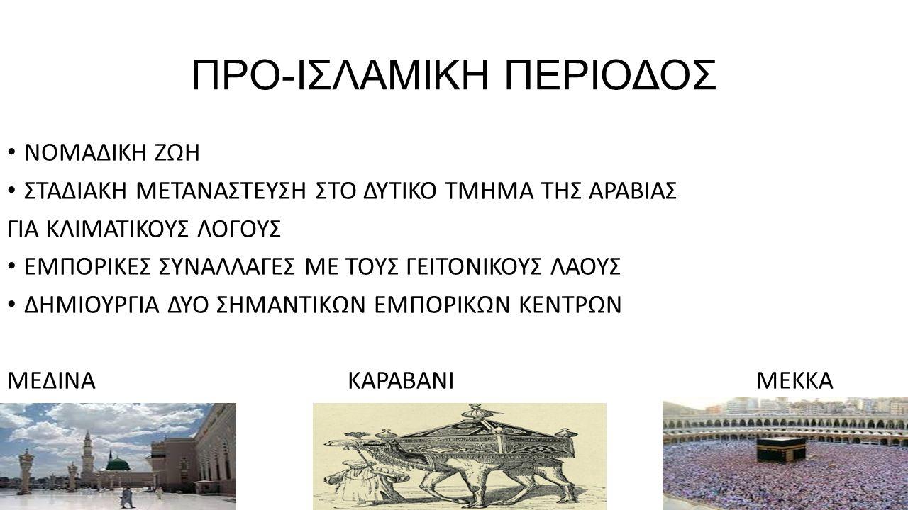 ΠΡΟ-ΙΣΛΑΜΙΚΗ ΠΕΡΙΟΔΟΣ