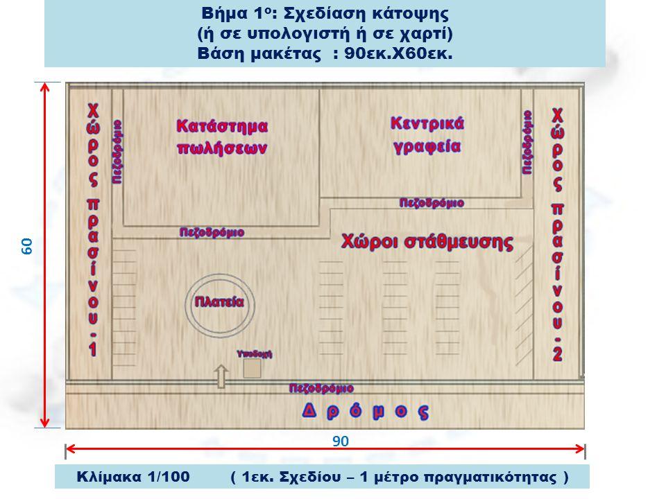 Βήμα 1ο: Σχεδίαση κάτοψης (ή σε υπολογιστή ή σε χαρτί)
