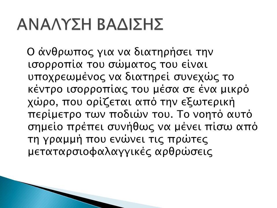 ΑΝΑΛΥΣΗ ΒΑΔΙΣΗΣ