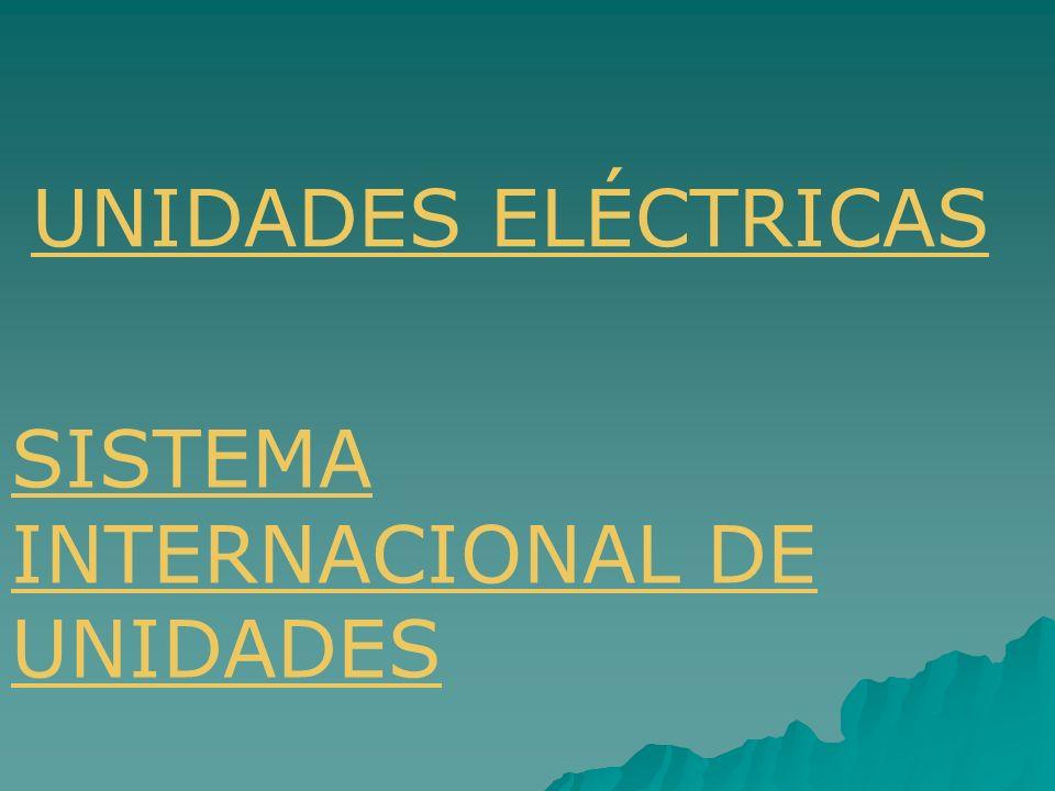 UNIDADES ELÉCTRICAS SISTEMA INTERNACIONAL DE UNIDADES