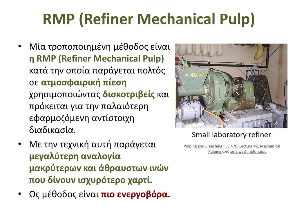 Mechanical Pulping Process Conditions