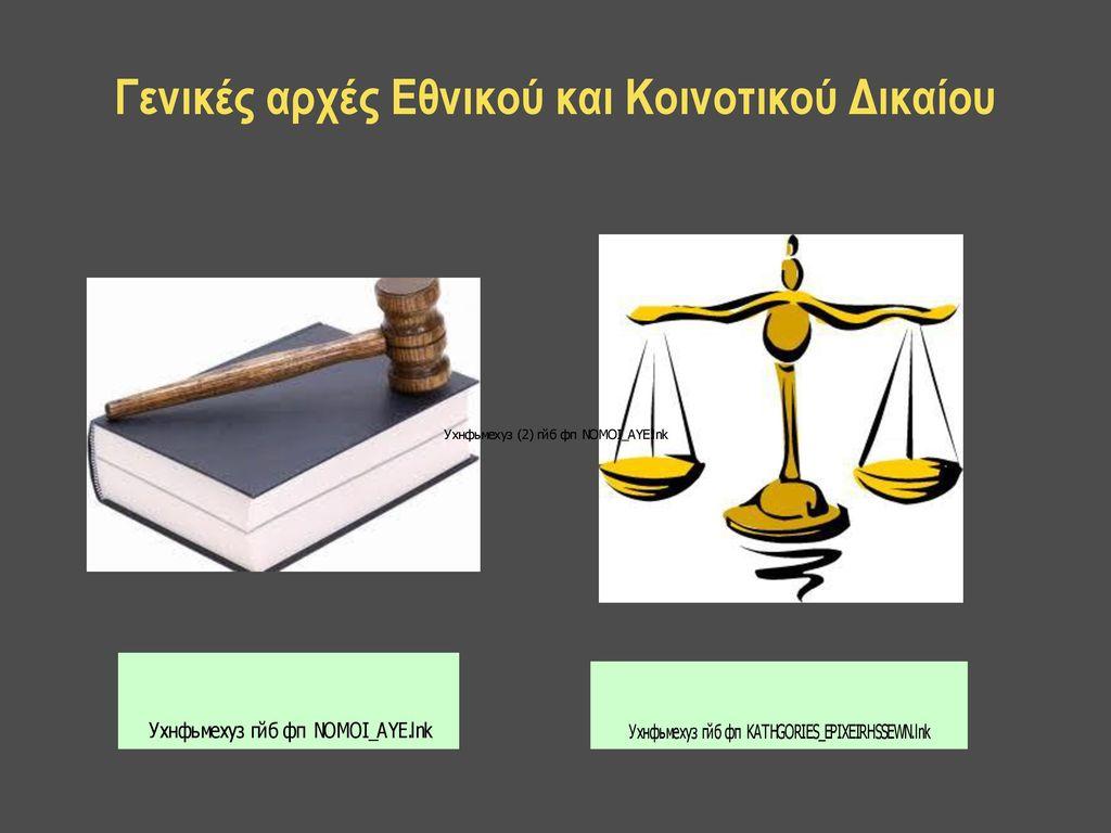 Γενικές αρχές Εθνικού και Κοινοτικού Δικαίου