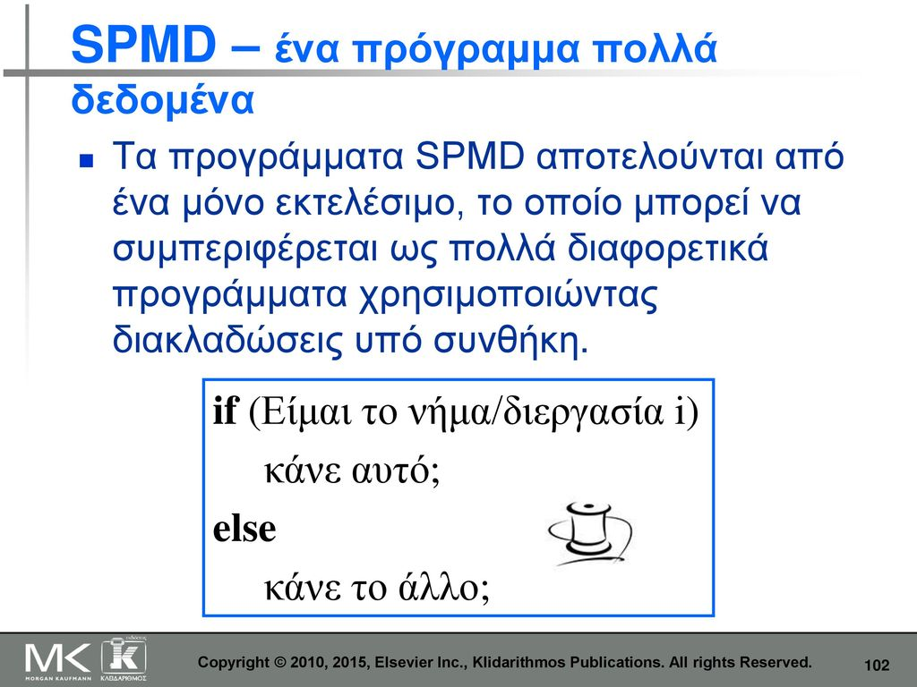 SPMD – ένα πρόγραμμα πολλά δεδομένα