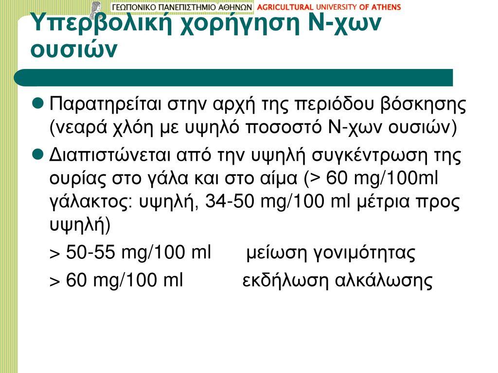 Υπερβολική χορήγηση Ν-χων ουσιών