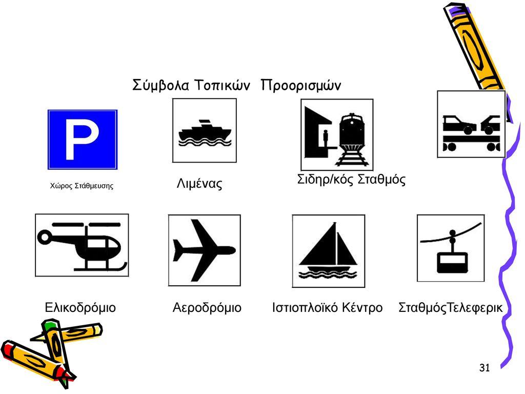 Σύμβολα Τοπικών Προορισμών