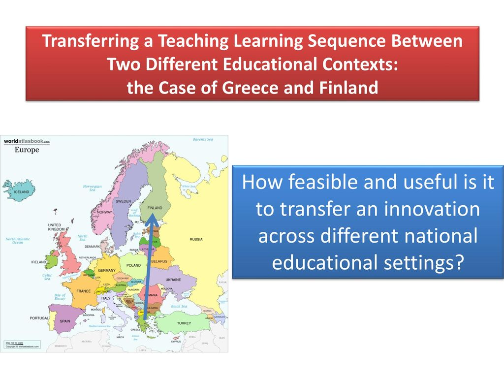 Transferring a Teaching Learning Sequence Between Two Different Educational Contexts: the Case of Greece and Finland