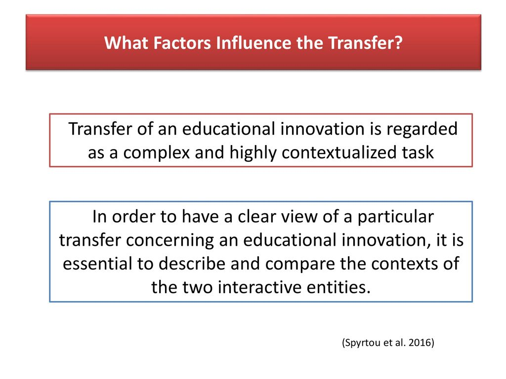 What Factors Influence the Transfer