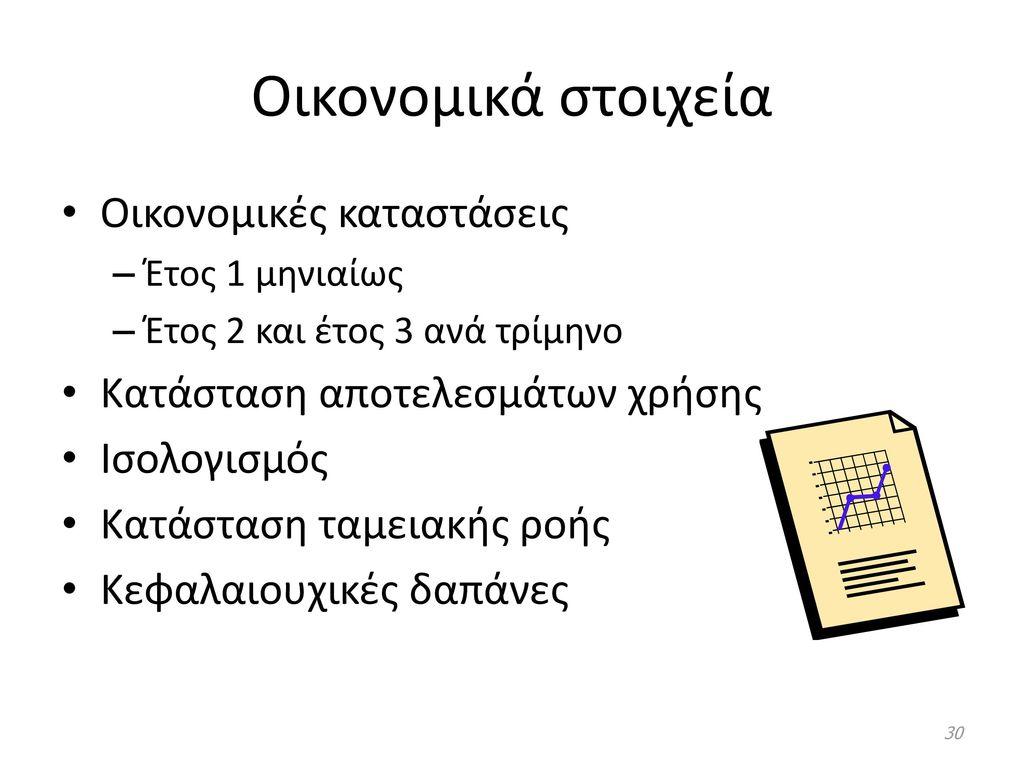 Οικονομικά στοιχεία Οικονομικές καταστάσεις