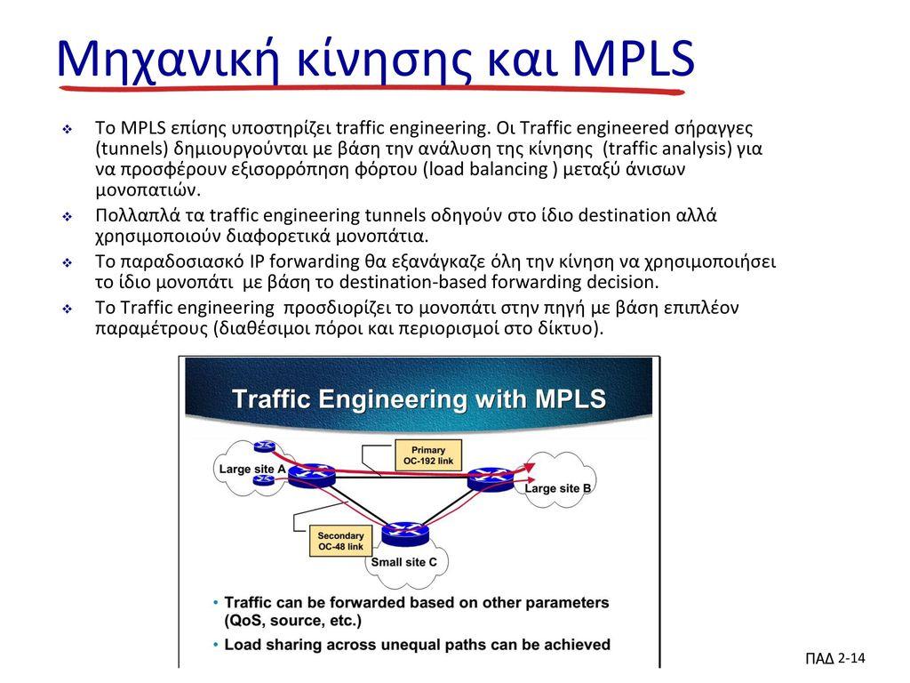 Μηχανική κίνησης και MPLS