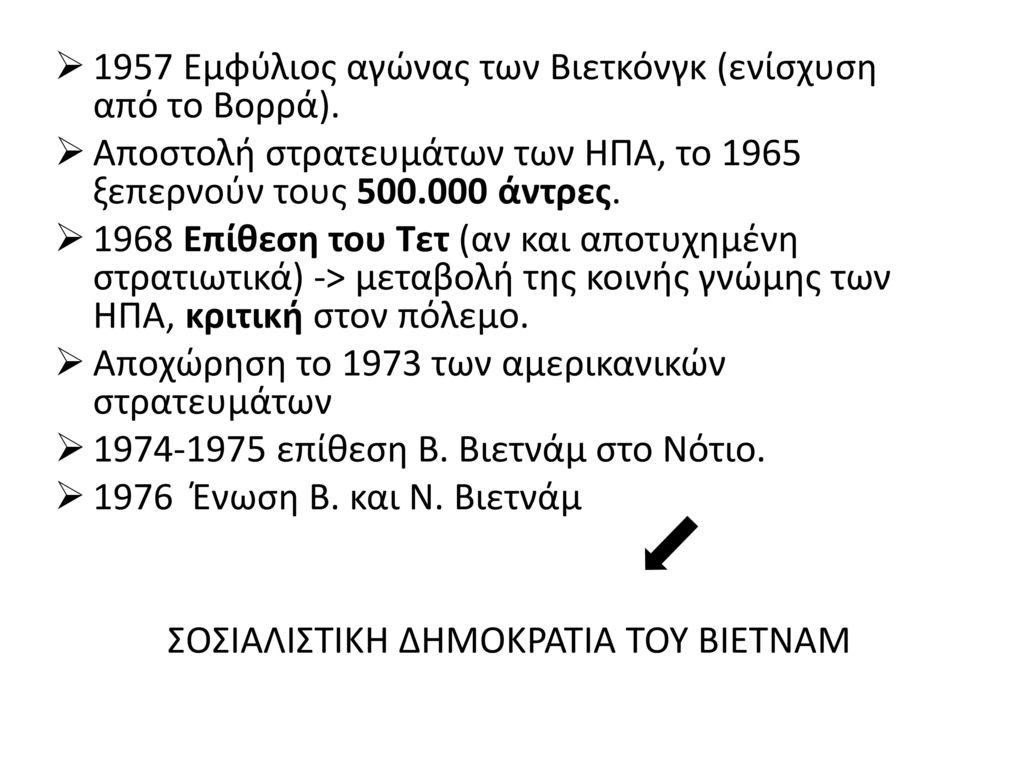 ΣΟΣΙΑΛΙΣΤΙΚΗ ΔΗΜΟΚΡΑΤΙΑ ΤΟΥ ΒΙΕΤΝΑΜ