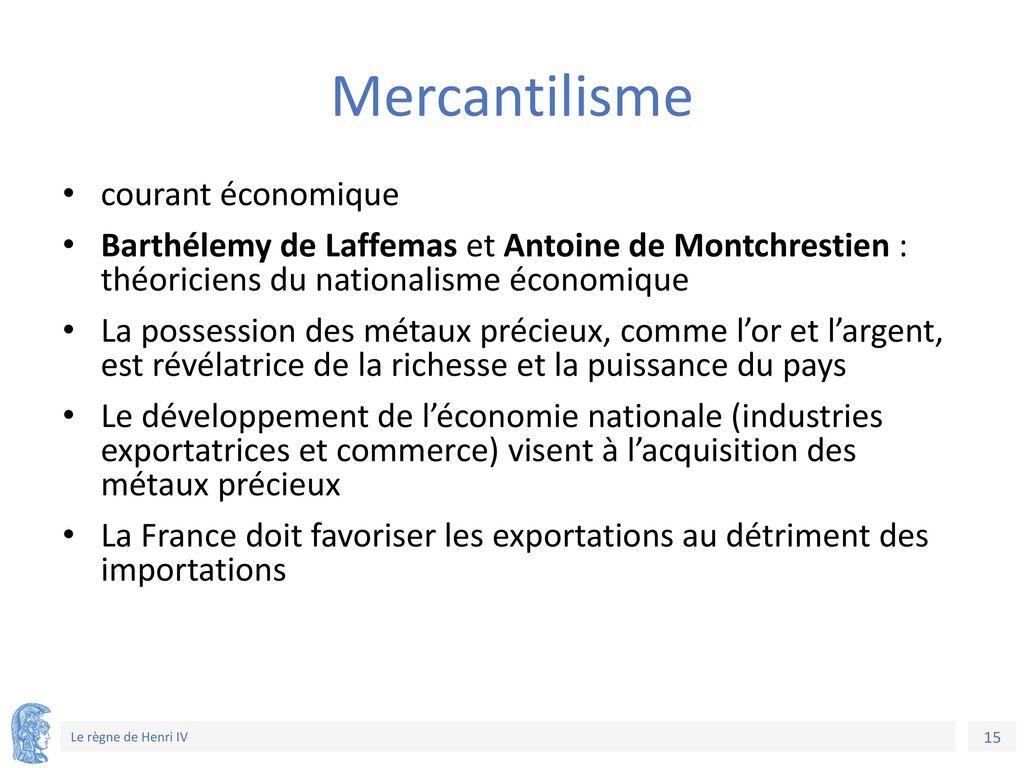Mercantilisme courant économique