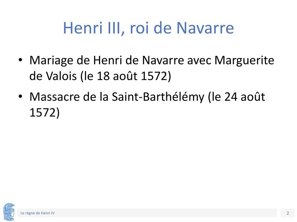 Henri III, roi de Navarre