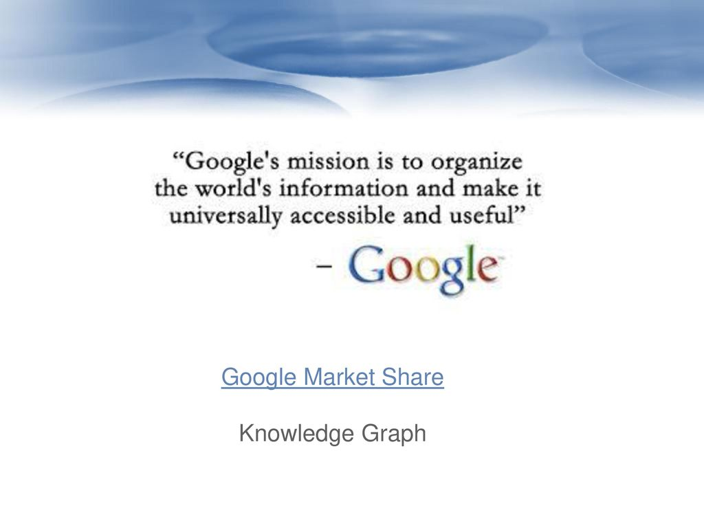 Google Market Share Knowledge Graph